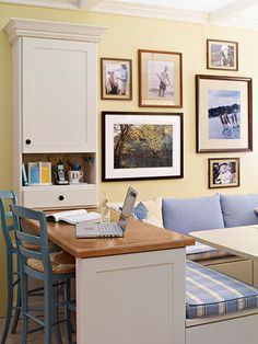 love how open this message center is! And, the booth! www.bhg.com/...