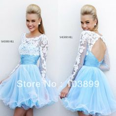 Lace top on prom dress, like this but long dress