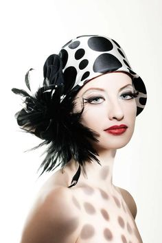 Retro Feathered Hats - Beauty Magazine is All About Colorful Eyeshadows and Red Lips (GALLERY)