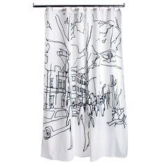 Marimekko Hetkiä Moments Long Polyester Shower Curtain - Marimekko Bath Accessories
