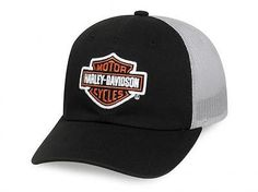 d5827152cb555 Harley Davidson Baseball cap Trucker cap Hat Model B S Orange