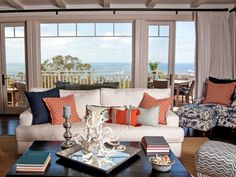 Everything Coastal....: Orange Crushing - 10 Coastal Decorated Spaces