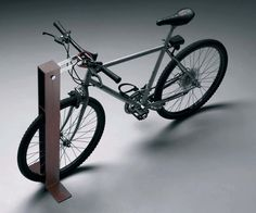 Bike stand made from shaped steel plate, with a brushed and electropolished stainless steel movable connecting rod, particularly useful to attach a lock to the bike frame. Urban Furniture, Street Furniture, Furniture Plans, Furniture Design, Cheap Furniture, Furniture Nyc, Inexpensive Furniture, Furniture Websites, Furniture Movers