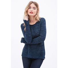 LOVE 21 CONTEMPORARY Ribbed Cutout Sweater