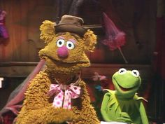 Kermit and Fozzy - looking surprised?