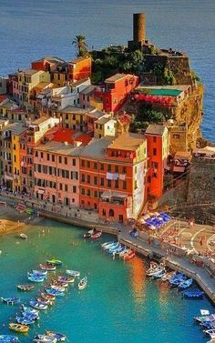 Village on the sea in Italy.