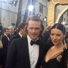 SAM & CAIT!!! •••••••••••••••••••••••••••••••••• #SamHeughan #CaitrionaBalfe #Scot #SexySam #Scotland #Scottish #JAMMF #JamieFraser #ClaireFraser #Outlander #OutlanderStarz #HotScot #Actor #Sam #Sexy #Sheugs #StudMuffin #Random #KingOfMen #Perfection #nofilter #Ginger #Redhead #SuitAndBowTie #GoldenGlobes #Suit #SuitedUp #KiltedGlobes #GorgeousWoman