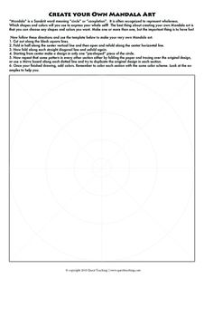 Need a last minute Mother's Day Gift? Create your own Mandalas for Mom with this easy to follow template. Give Mom the pleasure of relaxing while she colors your creations! Mandala Design, Mandala Art, Mandalas For Kids, Symmetry Art, Create Your Own, Create Yourself, Sanskrit Words, Mandalas Drawing, Design Tattoo