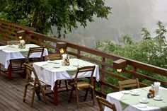 The restaurant at Home Phutoey features a large terrace overlooking the valley and its river... And offering a fantastic view !  #Restaurant #Hotel #RiverKwai #Thailand