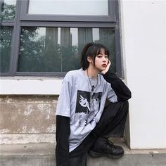 Discover recipes, home ideas, style inspiration and other ideas to try. Edgy Outfits, Grunge Outfits, Korean Outfits, Retro Outfits, Cute Outfits, Fashion Outfits, Tokyo Street Fashion, Japanese Street Fashion, Japan Fashion