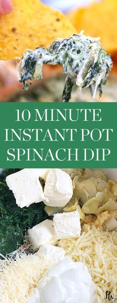 Check out this easy, instant pot spinach dip and more delicious instant pot recipes to making this Thanksgiving. #thanksgivingrecipes #thanksgiving #spinachdip #instantpot #instantpotrecipes #vegetarianappetizers #appetizerrecipes