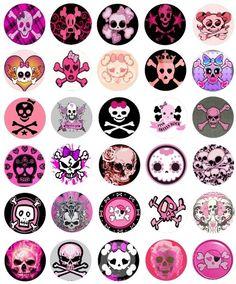 Girly Skull Tattoos, Sugar Skull Tattoos, Sugar Skull Art, Bottle Cap Projects, Bottle Cap Crafts, Diy Bottle, Bottle Cap Art, Bottle Cap Images, Decoupage