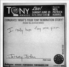 Jeremy Jordan's hopes and dreams