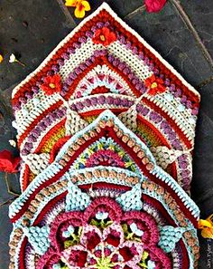Transcendent Crochet a Solid Granny Square Ideas. Inconceivable Crochet a Solid Granny Square Ideas. Crochet Square Patterns, Crochet Blocks, Crochet Blanket Patterns, Crochet Motif, Easy Crochet, Crochet Squares Afghan, Manta Mandala, Grannies Crochet, Crochet Afghans