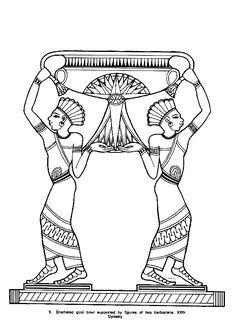 Des barbares égyptiennes à colorier.