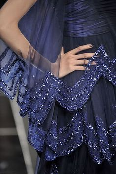 Elie Saab Fall 2008....beautiful color beautiful detail....uia the sheer part with beads