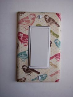 Multi Color Birds Rocker / GFI Switchplate