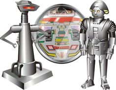 Buck Rogers ~ The robots...Crighton, Dr. Theopolis, Twiki