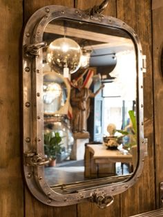 Pair of Polished Porthole Mirrors
