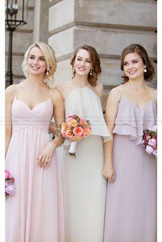 Sorella Vita Chiffon Spaghetti Strap Bridesmaid Dress Style 8798
