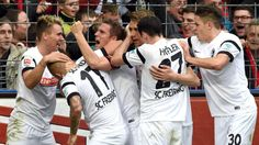 2:0 Freiburg - Augsburg: Schmid erlöst die Freiburg-Nullen - Jubel in Freiburg: Endlich wieder Tore http://www.bild.de/bundesliga/1-liga/saison-2014-2015/spielbericht-sc-freiburg-gegen-fc-augsburg-am-26-Spieltag-36649708.bild.html lol,today was just thinking to live in Freiburg area...enough to make SC Freiburg won lol, incredible thoughts hahaha,since only thoughts,not moved there really lol