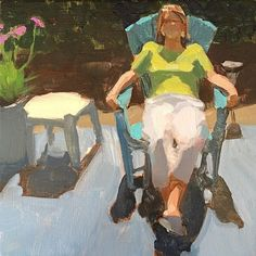 Day 9; 6x6 on cradled panel. This was used for my demo last night with the Tracy Art League; a really nice group of people who were gentle with me! Thank you for making my first demo a positive experience! #figurativepainting #lajolla #sandiego #vrbo #patio #lightandshadow #art #artoninstagram #acrylicpainting #30in30challenge #dailypainting #smallpaintings