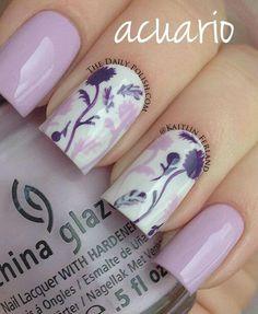 Flores morado y rosa pastel