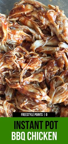 Nutritious Snack Tips For Equally Young Ones And Adults Instant Pot Bbq Chicken Weeknight Dinner Has Never Been Easier. This Recipe For Bbq Chicken Uses Frozen Chicken Breasts. No Defrosting Add In Your Favorite Bbq Sauce At The End. Barbeque Chicken Recipes, Frozen Chicken Recipes, Healthy Chicken Recipes, Bbq Beef, Snacks Sains, Shredded Chicken Recipes, Enchiladas, Instant Pot Dinner Recipes, Pots