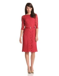 Amazon.com: Jones New York Women's Long Sleeve Lace Dress: Clothing