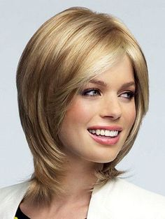 High-quality, Medical Wigs by Rena of Paris. Shag Hairstyles, Straight Hairstyles, Haircuts, Medium Hair Styles, Short Hair Styles, Jennifer Aniston Hair, Shirt Hair, One Hair, Layered Hair