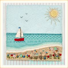 Seaside felt picture by Claire Mckay ❤