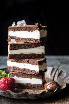 Tiramisu Brownie Ice Cream Sandwich Bars