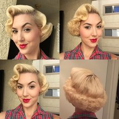 The full view of the wet set style I created today! Wanna see how I did the entire look?! Then head over to my #periscope channel @missrockabillyruby to see it for the next 24 hours! #vintage #vintagehair #wetset #pinup #pinuphair #retro #retrohair #missruby #missrockabillyruby #hairbymissruby #hairtutorial