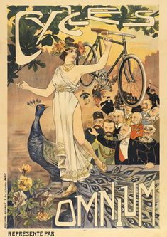 Cycles Omnium Bicycle Poster – Cycling Poster Bicycle Art Vintage Bicycle Poster Cycling Art Tour de France Cycling Art – Famous Last Words Bicycle Art, Bicycle Design, Bicycle Tattoo, Bicycle Painting, Cool Bicycles, Vintage Bicycles, Art Vintage, Vintage Prints, Vintage Ads