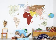 Whole Wide World Wall Panel - contemporary - wallpaper - Fabrics & Papers