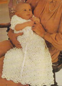 Vintage Crochet Pattern Heavy Lace Christening Gown