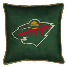 Minnesota Wild Decorative Pillow, Green