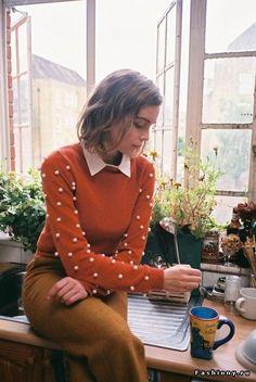 love that pom-pom sweater!