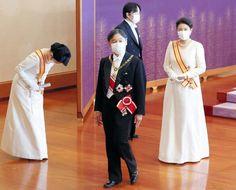 L'imperatore Naruhito e l'imperatrice Masako hanno ospitato il ricevimento di Capodanno del 2021 Prince Héritier, Royal Christmas, Imperial Palace, Aiko, Royalty, Reception, Dresses For Work, Lady, People