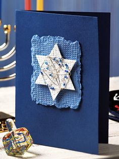 Hanukkah - this is a pretty card.  need to send my friend a hanukkah card this year, she always sends my holiday cards and she loves cards!