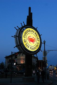 San Francisco, Fisherman's Wharf    Most famous landmark in Fisherman's Wharf, San Francisco.