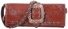 Wild Horse Print Buckle Clutch by Double J Saddlery.