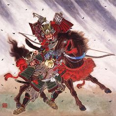 Minamoto no Yoriyoshi (988-1082) He is general who is superior in the horseman morphism, was the leader of the soldiers of east country. He suppressed the rebellion of the northern country, founded the Tsurugaoka Hachimangu shrine in Kamakura.