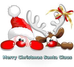 Amusing Santa Claus cartoons