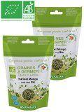 Germline - Graines à germer bio - Haricot Mungo ( soja vert ) issues de l'agriculture biologique - Lot de 2 x Sachets de 200g