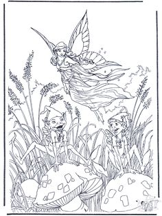 elves_08 Adults and teens coloring pages