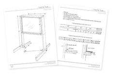Outdoor Easel Tutorial & Plans