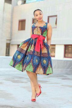 Cute Ankara midi dress
