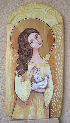 Angel Artwork, Angel Drawing, Mother Art, Africa Art, Inspirational Artwork, Driftwood Art, Naive Art, Christmas Paintings, Picture On Wood