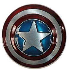 Captain America Belt Buckle - Belt Buckles Of Men Captain American, Captain America Shield, Volkswagen Logo, Metallic Paint, Marvel Avengers, Belt Buckles, Red And Blue, Dark Red, Silver